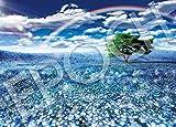 ジグソーパズル ネモフィラと幸運の虹 500ピース (38x53cm)