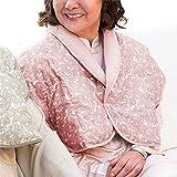 パジャマ屋 ペーズリー柄 あったか高級羽毛の肩当て(ダウン肩あて)【お誕生日プレゼント】/ソフトピンク・フリーサイズ