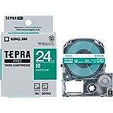 キングジム テープカートリッジ テプラPRO SD24G 24mm 緑/白文字