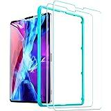 ESR ガラスフィルム iPad Pro 12.9 (2021/2020/2018)用 保護フィルム 高透明 硬度9H 強化ガラスフィルム スクラッ 飛散と気泡防止 ガイド枠付き 2枚入り