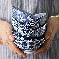 和風と風小麦ボウルフルーツサラダ穀物ボウルキムチ料理デザートボウルクリエイティブセラミック食器セット (Color : E)