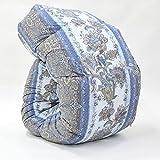 西川 羽毛布団 ホワイト グース ダウン90% 日本製 抗菌 防臭 AI937 (シングル:150×210cm, ブルー)