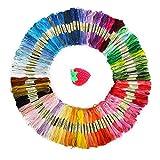 たっぷり 25番 刺繍糸 100色 8m 100束 6本綴 600本 セット クロスステッチ