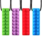 Coolle Soft BPA Free Baby Chew Training Pendant & Teethers Antsy Teething Infnat Necklace Toys Safe and Flexible Set of 4...