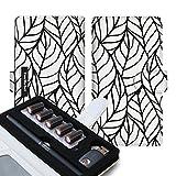 CaseMarket Ploom Tech 専用 PUレザー 手帳型 プルーム・テック ケース モノトーン ボタニカル ボタニカル柄 リーフ グラフィックス 4347 電子タバコ 保護 カバー