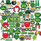 72パック写真ブース小道具 – Irish写真ブース小道具 – 聖パトリックの日パーティーSupplies、聖パトリックの日写真ブース小道具 – 聖パトリックの日の自撮り小道具、面白い写真ブース小道具Celebrations