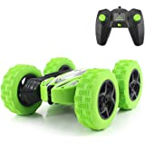 Fisca RC Car Remote Control Stunt Car, 4WD Monster Truck Double Sided Rotating Tumbling - 2.4GHz High Speed Rock Crawler Vehi