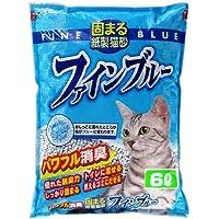 常陸化工 固まる紙製猫砂 ファインブルー 6L