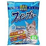 常陸化工 固まる紙製猫砂 ファインブルー  6LX7(ケース)