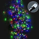 GOODGOODS クリスマス LED イルミネーション ライト 100球 10m 防雨防水屋外 クリスマスツリー 飾り LED電飾 多彩カラー LD-K8