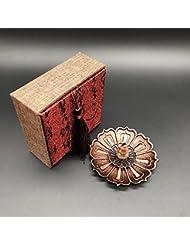 仏具 香炉 香立 (蓮の花びら 蓮の花) 線香 お香 お香立て シック シンプル 金属製 アクセサリー風 ギフト 贈り物 プレゼント