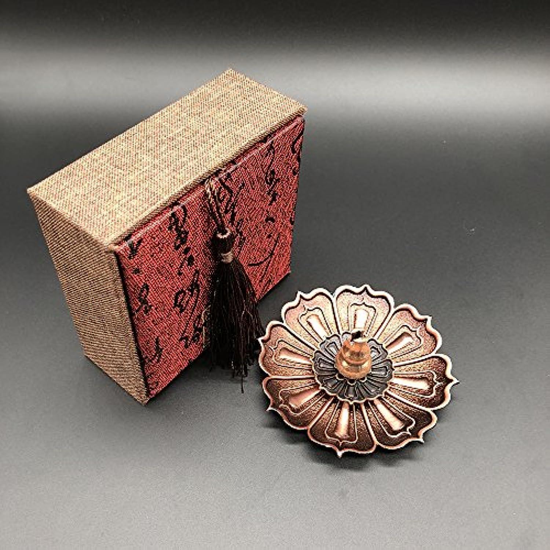 誇張可能にする報酬の仏具 香炉 香立 (蓮の花びら 蓮の花) 線香 お香 お香立て シック シンプル 金属製 アクセサリー風 ギフト 贈り物 プレゼント