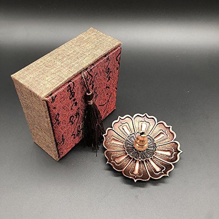 シャット気楽なビルダー仏具 香炉 香立 (蓮の花びら 蓮の花) 線香 お香 お香立て シック シンプル 金属製 アクセサリー風 ギフト 贈り物 プレゼント