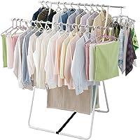アイリスオーヤマ 洗濯物干し 室内物干し タオルハンガー付き コンパクト収納 簡単組立 約4人用 幅99~142×奥行約…