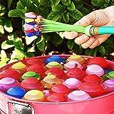 水爆弾 水風船 111個(3束X37)水を入れて投げ合う 暑い夏の水遊びに 子供のおもちゃ 60秒以内に一気に膨らませて縛る 【ハンドル部分の色ランダムです】