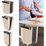 Kitchen Bin, HOME-MART Kitchen Trash Can,9L Hanging Foldable Trash Bin Wall Mounted Waste Bin for Kitchen Toilet Bathroom Liv