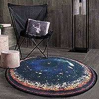 KuangfuMall 北欧クリエイティブファッションラウンドカーペット寝室のコーヒーテーブルパッドリビングルームベッドルームぶら下げバスケットガーデンブランケットコンピュータチェアブランケット (Color : B, サイズ : Diameter 80)
