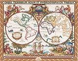 "Janlynn クロスステッチキット Olde World Map 【並行輸入品】            Janlynn Cross Stitch Kit, 15-Inch by 18-Inch, Olde World Map           Janlynn クロスステッチ 刺繍キット""世界地図"""
