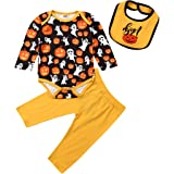 mettime Baby Infant Girl White T-Shirt Long Sleeve Romper & Floral Pants Set Matching Headband Outfits Newborn 0-18 Months (H
