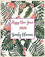 Happy New Year 2020 Yearly Planner: New Year Gift 2020 | Christmas Gift 2020 | 2020 Planner | Pretty Simple Planners | Botanical Floral | Gift For year 2020