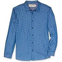 Hammersmith Men's Goodwin Long Sleeve Shirt, Denim