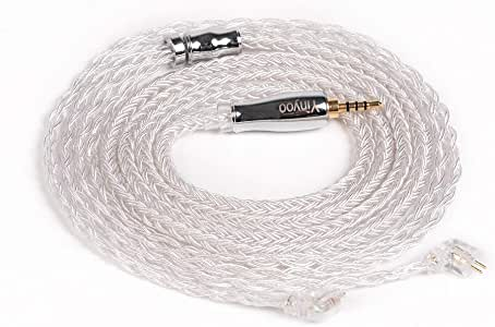 YYX4865 TFZ ケーブル 2pin リケーブル 2.5mm 4極 バランス 銀メッキ ケーブル 16芯 2pin バランス 2.5mm 4極 ケーブル 2.5mm ケーブル 2pin バランスケーブル 2.5mm 4極 16芯 tfz リケーブル (TFZ・2.5mm)
