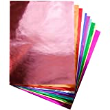 "Hygloss Products Metallic Foil Paper Sheets for Arts & Crafts, Classroom Activities & Artists-10"" x 13"", Assorted Colors"