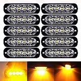 LEDフラッシュ警告ライト、northbear車トラックアンバー緊急ライト前面背面側ハザードストロボ警告ランプ12 – 24 V 10 Piece