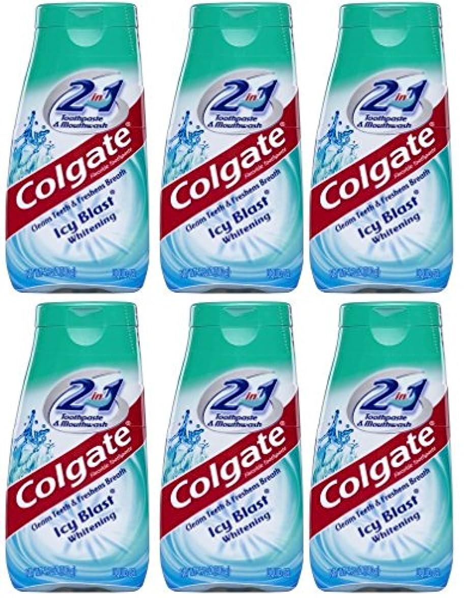 クロニクルお客様マージンColgate 2-IN-1歯磨き粉およびマウスウォッシュ、美白アイシーブラスト、4.6オンスチューブ(6パック) 6パック