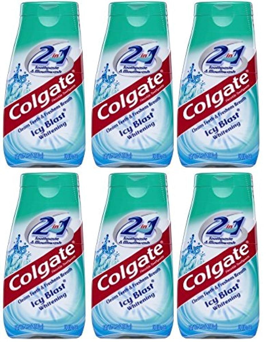 縮約文明化もう一度Colgate 2-IN-1歯磨き粉およびマウスウォッシュ、美白アイシーブラスト、4.6オンスチューブ(6パック) 6パック