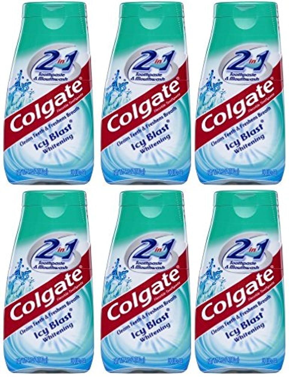 ファイナンス希少性重要Colgate 2-IN-1歯磨き粉およびマウスウォッシュ、美白アイシーブラスト、4.6オンスチューブ(6パック) 6パック