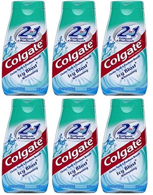 新聞アンテナチューブColgate 2-IN-1歯磨き粉およびマウスウォッシュ、美白アイシーブラスト、4.6オンスチューブ(6パック) 6パック