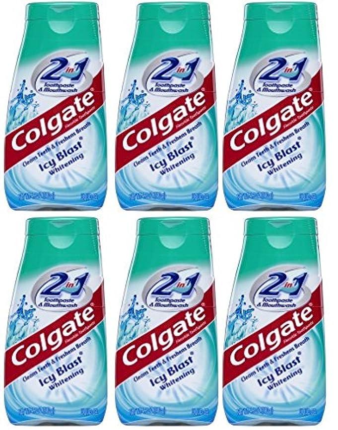 ぞっとするようなホールドオール囲いColgate 2-IN-1歯磨き粉およびマウスウォッシュ、美白アイシーブラスト、4.6オンスチューブ(6パック) 6パック