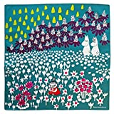 MOOMIN(ムーミン)Tribute Works ハンカチ 50×50cm お花畑のミイ ブルーグリーン 日本製