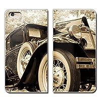 (ティアラ) Tiara ARROWS Z FJL22 スマホケース 手帳型 ベルトなし クラシックカー アメ車 レトロ ビンテージ 手帳ケース カバー バンドなし マグネット式 バンドレス EB282040050901