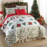 """Bits and Pieces - Merry Christmas Quilt Bedding - 18"""" Square Decorative Throw Pillow Cover"""