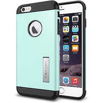【Spigen】スマホケース iPhone 6Plus ケース スリム 耐衝撃 スタンド機能 スリム アーマー SGP10906 (ミント)