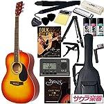 HONEY BEE ハニービー アコースティックギター フォークギタータイプ F-15/CS 初心者入門16点セット