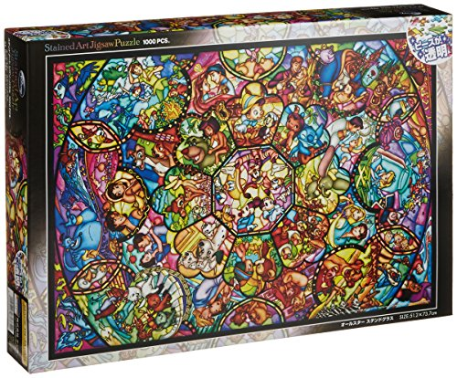 RoomClip商品情報 - 1000ピース ジグソーパズル ディズニー オールスター ステンドグラス 【ステンドアート】(51.2x73.7cm)