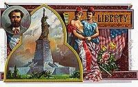 Libertyブランドシガーボックスラベル–ビューの自由の女神 24 x 36 Giclee Print LANT-27429-24x36