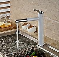 51BuyWorld トップクオリティの蛇口 ホワイト絵画キッチン蛇口シングル穴容器シンクミキサータップデッキがマウントされたハンドルプルアウト キッチンバスルームのための使用ホーム屋外ガーデンウォータールーム