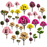 About 30pcs Mixed Model Trees 1.5-5 inch(4-12 cm), Diorama Models, Model Train Scenery, Architecture Trees, Model Railroad Sc