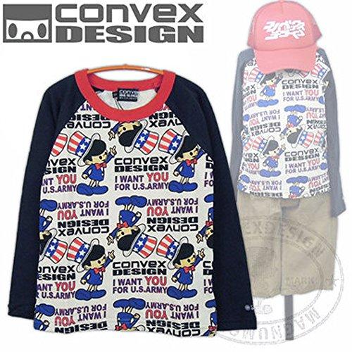 CONVEX(コンベックス) バリュー アンクルサムロンT_長袖Tシャツ (120-150cm/紺6...