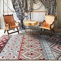 ラグカーペット, ヨーロッパ地中海の幾何学的なエスニックスタイル ラグマット ポリエステル畳 絨毯 じゅうたん 洗濯機で洗えます 滑り止めがより安全,B,40x60cm(15.7x23.6inch)