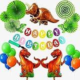 Better Stars 恐竜 ドラゴン 動物 happy birthday 特別 誕生日 飾り セット風船 空気入れ付きおもちゃ バナー ガーランド バルーン  パーティー 装飾 バースデー 男の子 女の子