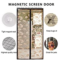 DULPLAY バグ対策 網戸,Net のドアの画面 蚊バグ対策 メッシュ カーテン バグ虫を保つし、飛び出す ドアや窓-C 95x215cm(37x85inch)