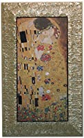 イタリア製 JHAアンティークフレーム 世界の名画 《プレミアム》クリムト キス KISS(接吻)(ガラスなし)W455×H755 II-60 額絵 絵画