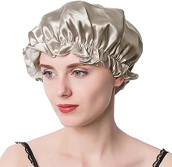 ナイトキャップ シルク シルクキャップ シルク100% 保湿 ゴム型 サイズ調整可能 ロングヘア ショートヘア 対応 ヘアキャップ就寝用 産後用