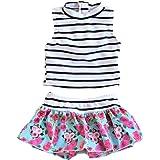 LOSORN ZPY Toddler Girl Sleeveless UPF 50+ Two Piece Rash Guard Bikini Swimsuit Set
