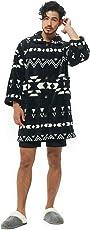 グルーニー Groony 2018ver 着る毛布 ルームジャケット マイクロファイバー 静電気防止 ポケット付 ネイビー 男女兼用 フリーサイズ 着丈95㎝
